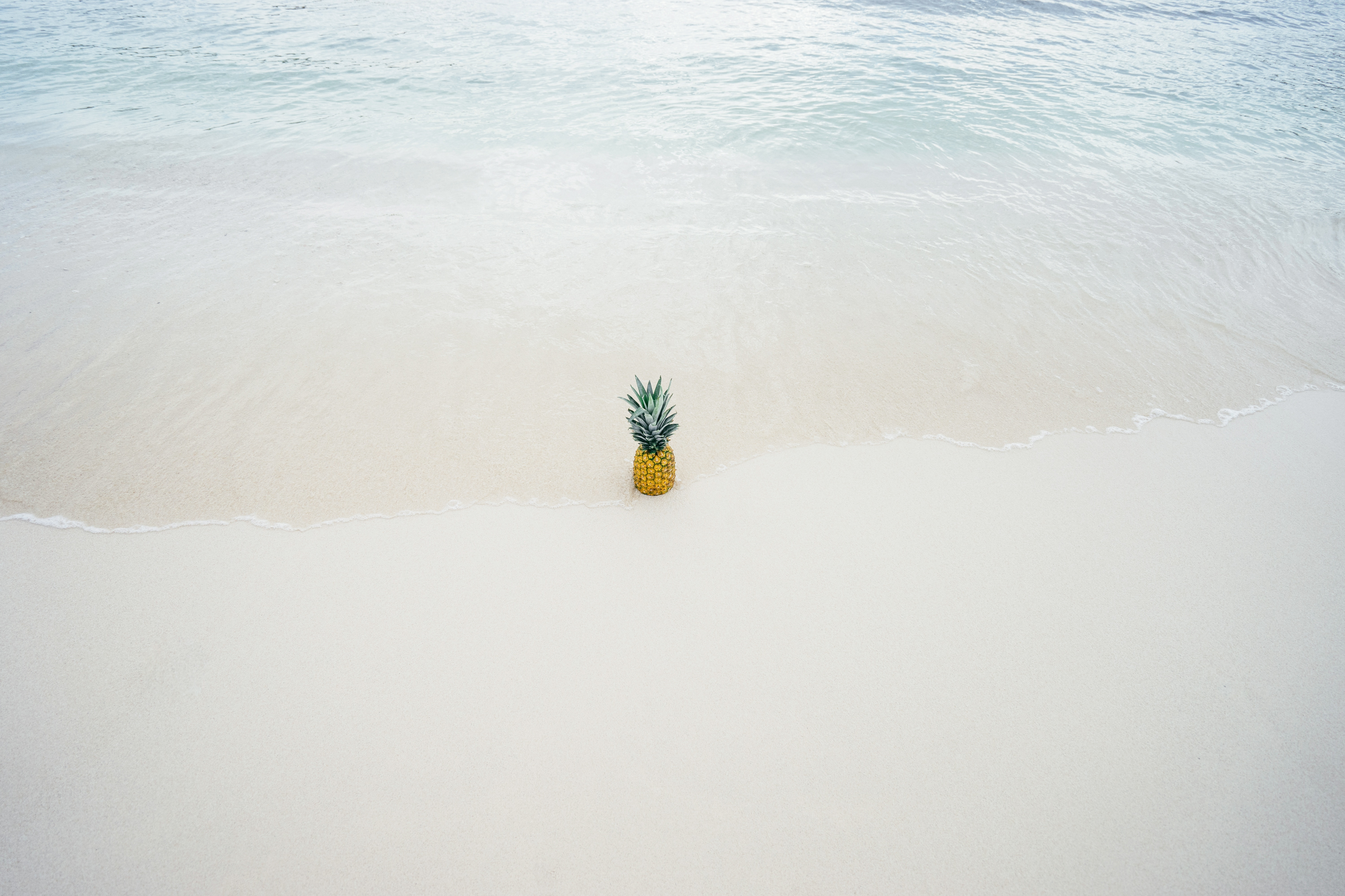 pineapple, creative, beach,